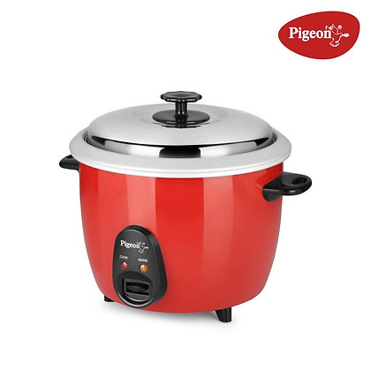 Pigeon by Stovekraft Joy 1.8L Double Pot 700-Watt Electric Rice Cooker (Red)