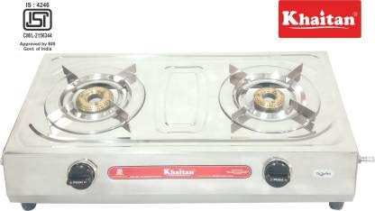 2 Burner VS2 Smart Stainless Steel Manual Gas Stove (Silver)