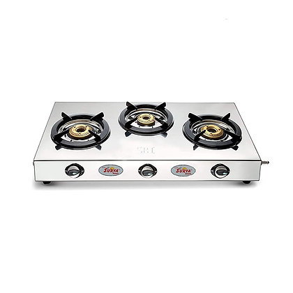 Stainless Steel Shining Flame Classic 3 Burner Gas Stoves