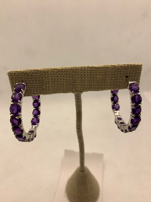 Sterling silver with Amethyst stones