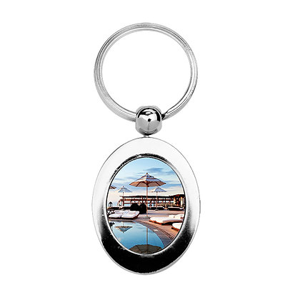 Oval-shaped Keychain for sublimation