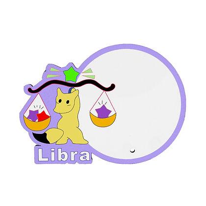 MDF wood Photo Frame - Libra Zodiac Sign