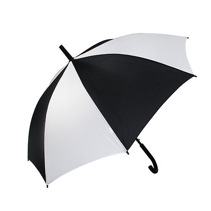 23inch White and Black Sublimation Umbrellas