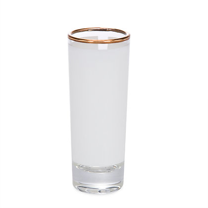 2.5oz Tequila cup for sublimation - gold border