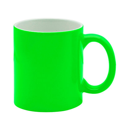 11oz Fluorescent Mug with lustrous finish