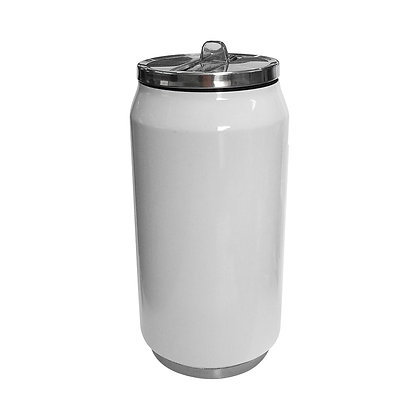Coca-Cola style white can with 350ml for sublimation