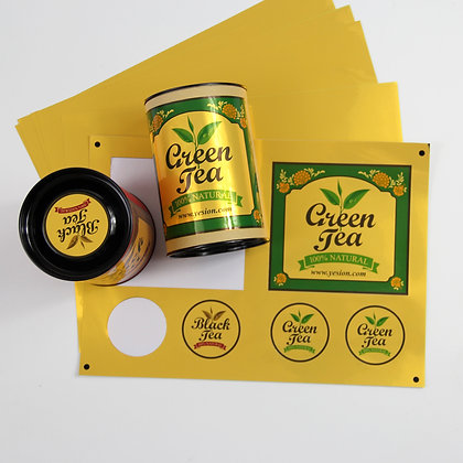 Bright Gold Inkjet PET Sticker Film