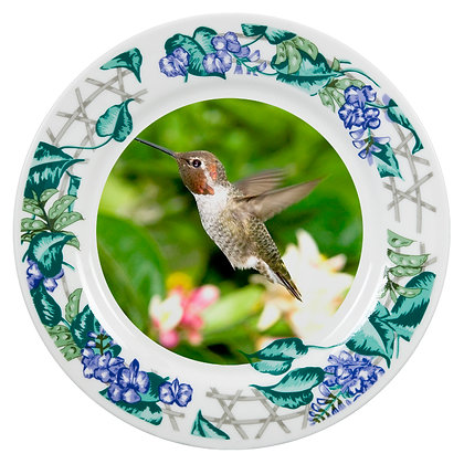"8"" Decorative Plate for sublimation - Flower ornament"