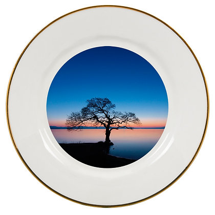 "10"" Decorative Metal Plate for sublimation - Gold border"