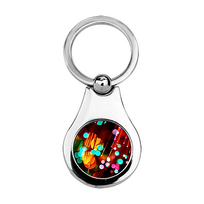 Metallic gear-shaped Keychain for sublimation