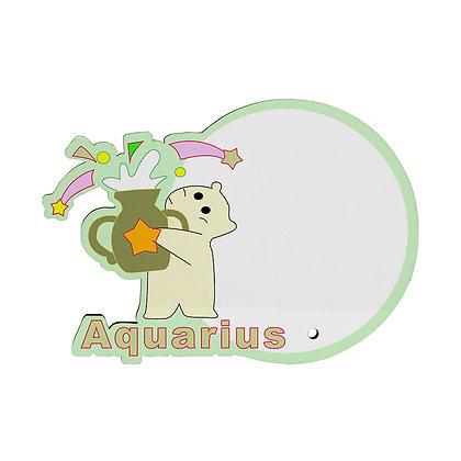 MDF wood Photo Frame - Aquarius Zodiac Sign