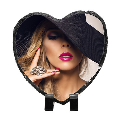 15x15cm Heart-shaped Slate Stone for sublimation