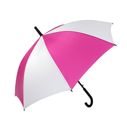 23inch White and Rose red  Sublimation Umbrellas
