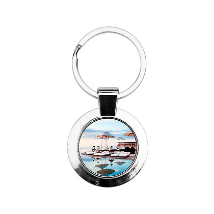 Circular-shaped Keychain for sublimation