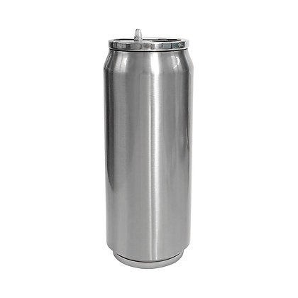Coca-Cola style silver can with 500ml for sublimation