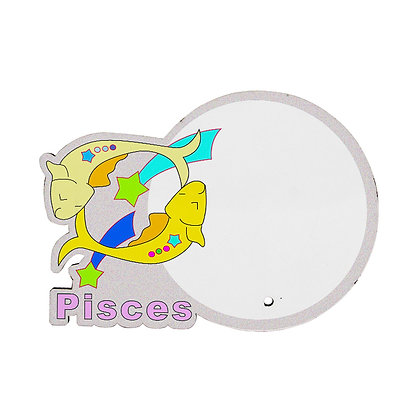 MDF wood Photo Frame - Pisces Zodiac Sign