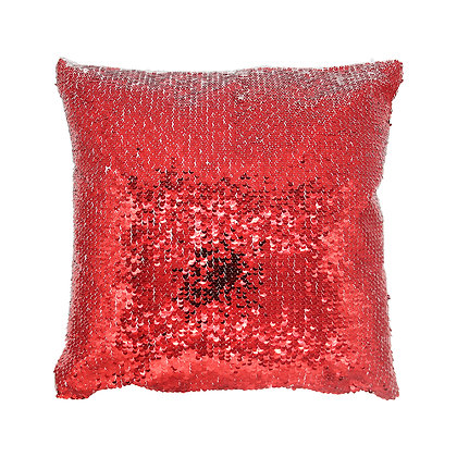 Sublimation Sequin Magic Pillow Case-red