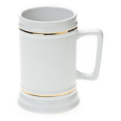 22oz Beer Mug for sublimation with gold border