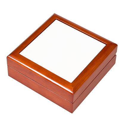 "4.25""x4.25"" Wooden Jewelry Box for sublimation"