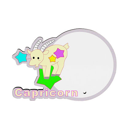 MDF wood Photo Frame - Capricorn Zodiac Sign