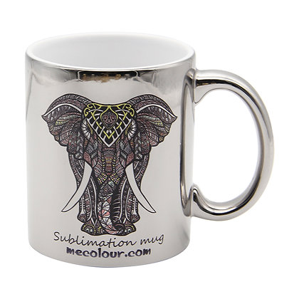 11oz Silver and Gold Electroplate Mug for sublimation