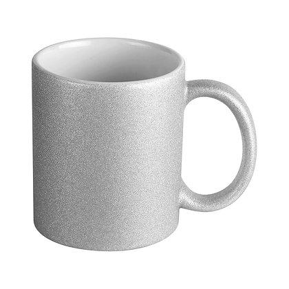 11oz Ceramic Magic Mug for Sublimation - Silver Glitter