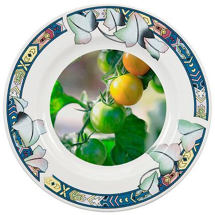 "8"" Decorative Plate for sublimation - Lotus flower ornament"