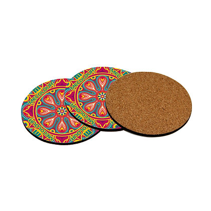 4mm thickness  φ95mm round Sublimation Blanks MDF Coaster