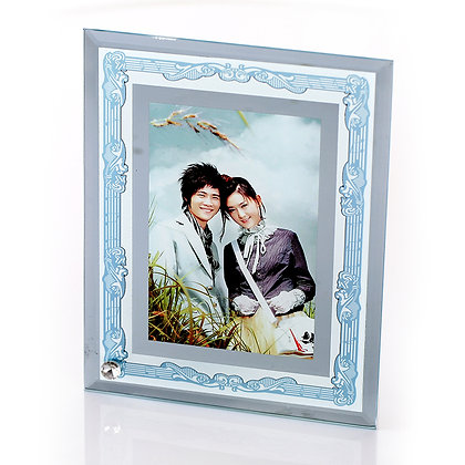 Mirror Edge Sublimation Glass Photo Frame