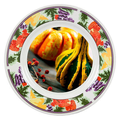 "8"" Decorative Plate for sublimation - Fruits ornament"