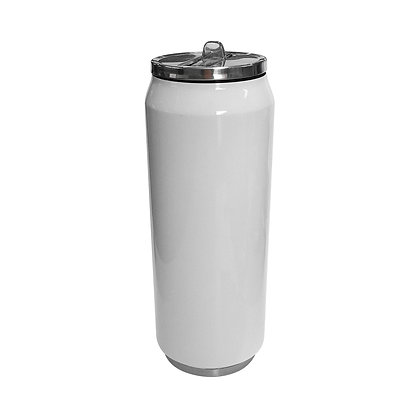 Coca-Cola style white can with 500ml for sublimation