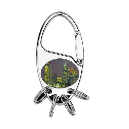 Oval-shaped metallic Keychain for sublimation
