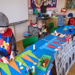 Cargilfield P2 children dress in medieval attire for thier Castle Day.