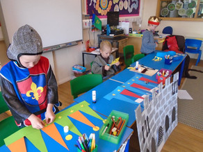 Cargilfield P2 children dress in medieval attire for thier Castle Day.