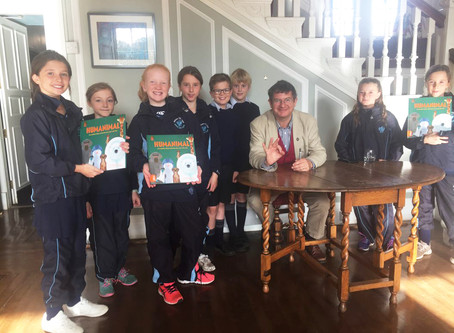 Author Inspires Pupils at Belhaven Hill School with his New Book