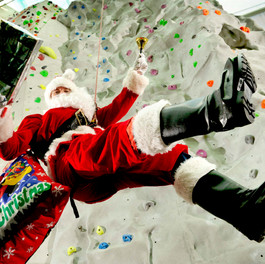 Santa Upping His Game at Edinburgh Leisure