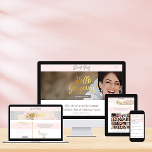 This homepage for BeautiMark Pro perfectly reflects their feminine and welcoming brand personality. The pink color brings a bright pop to any users day!