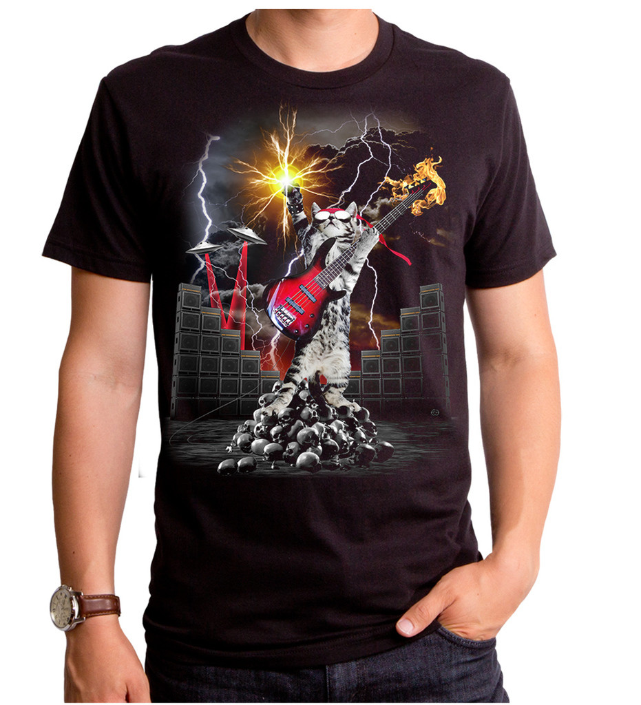 HEAVY METAL CAT Tシャツ