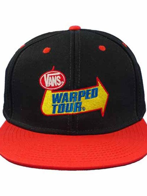 Warped Tour 6パネルスナップバックキャップ クラシックロゴ
