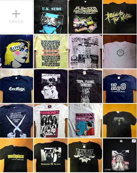 Tシャツコレクション。ほとんどバンド関連