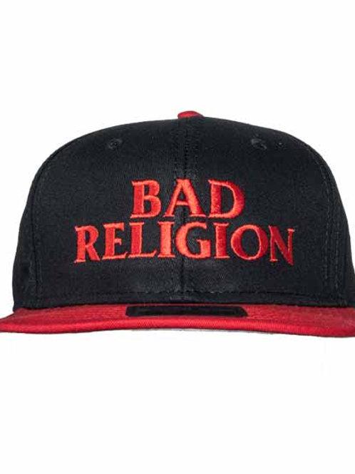 バッド レリジョン ( Bad Religion ) 6パネルスナップバックキャップ  バンドロゴ