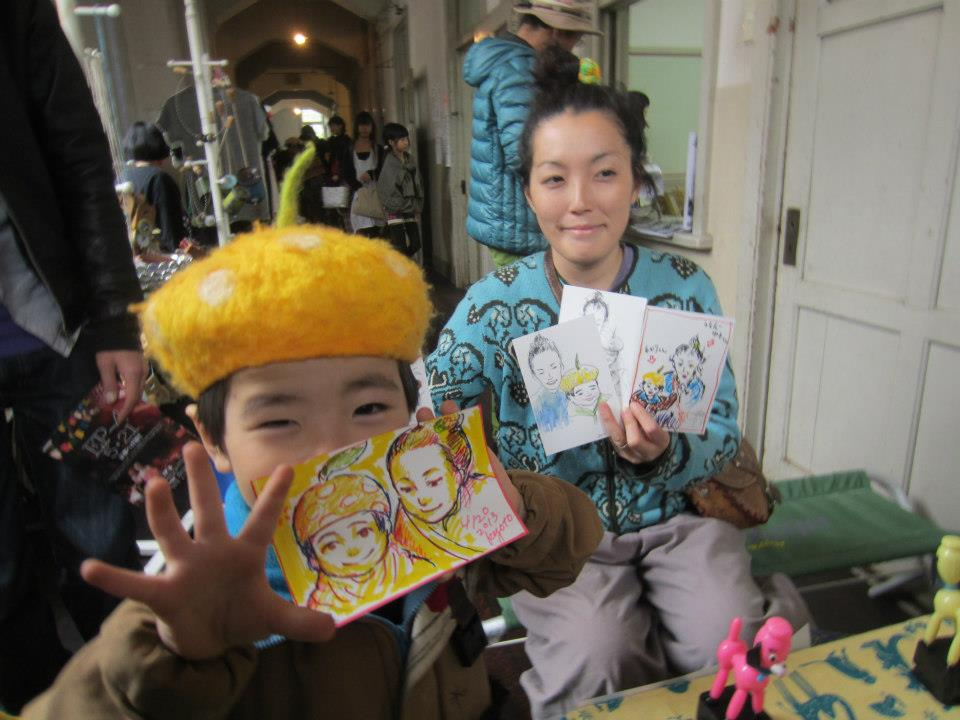 DRAWING PORTRAITS AT YOFUKASHI ICHI