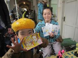 DRAWING PORTRAITS AT YOFUKASHI ICHI