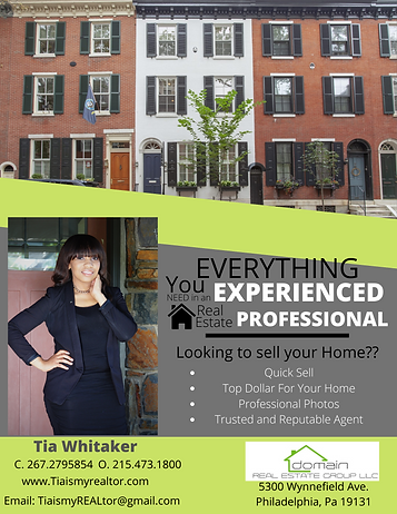 Blue Simple Photo Grid Real Estate Flyer