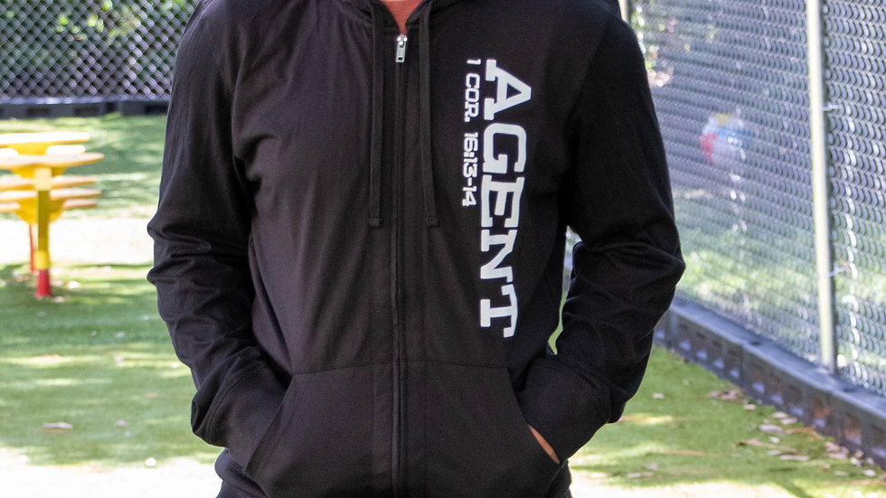 CIA Agent Adult Zippered Hoodie