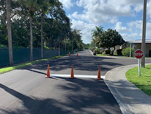Paving and striping