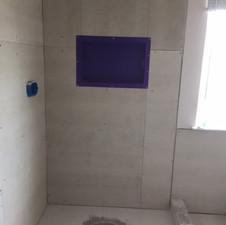 Tile shower remodel