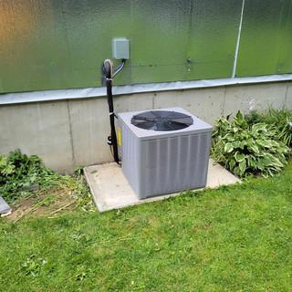 Rheem 3 ton 13 seer AC install in Freedom NY