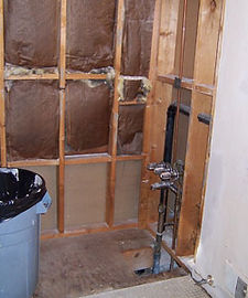 bathroom remodel during the tear out