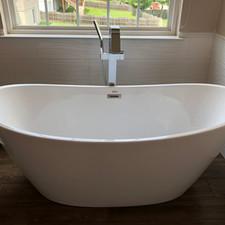 Perfect bathtub install